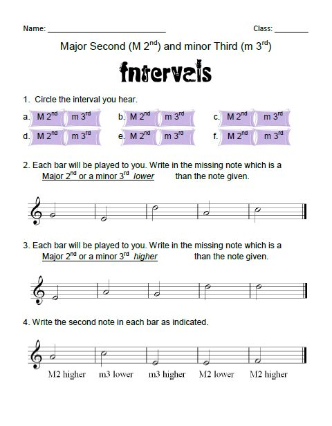 Best Music Intervals Images On   Music Ed Music