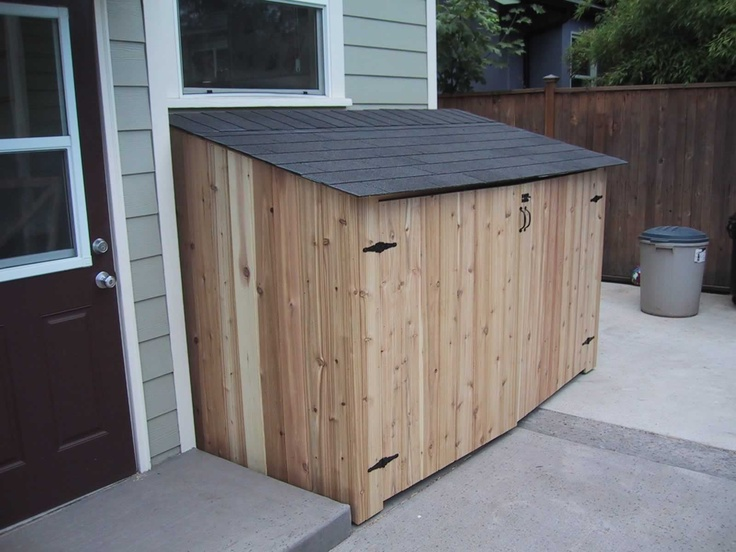 Side of house shed fence shed side deckmastersnw side for Side storage shed