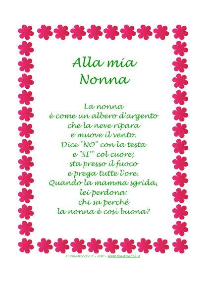 Célèbre Frasi Belle Per La Nonna | Californiaautodetail AD19
