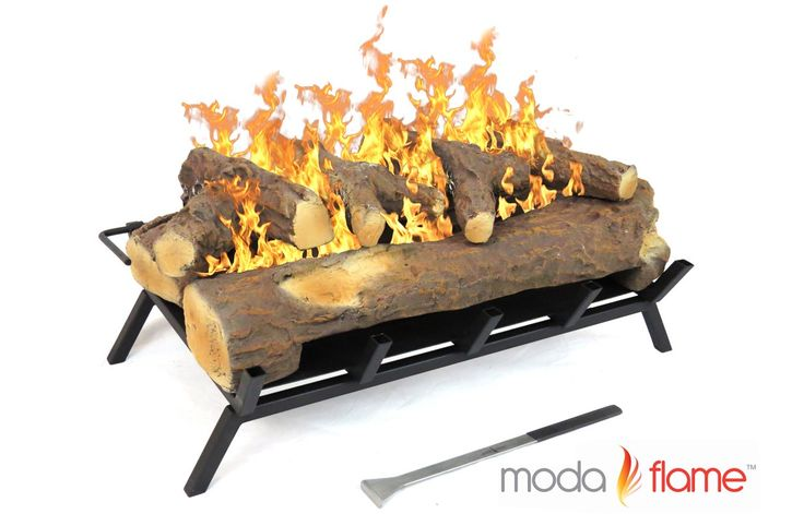 24+Inch+Convert+to+Ethanol+Gas+Log+Fireplace+Burner+Insert+|+Viesso+$349.99