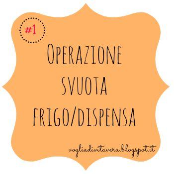 Sfida #1 Operazione svuota frigo/dispensa + inventario