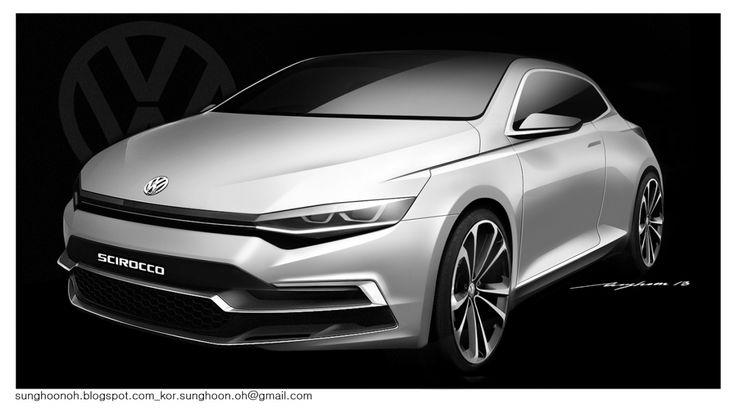 Volkswagen Scirocco design sketch