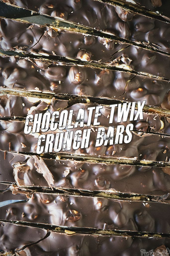 Fun and Easy Chocolate Twix Crunch Bars | PasstheSushi.com