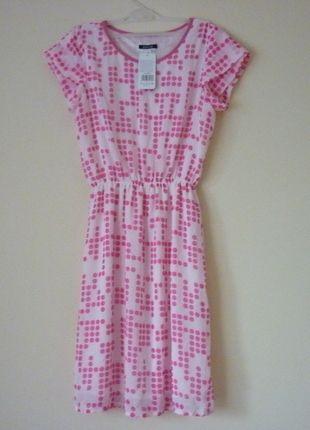 Kup mój przedmiot na #vintedpl http://www.vinted.pl/damska-odziez/krotkie-sukienki/14512805-urocza-zwiewna-dziewczeca-sukienka-w-rozowekropki
