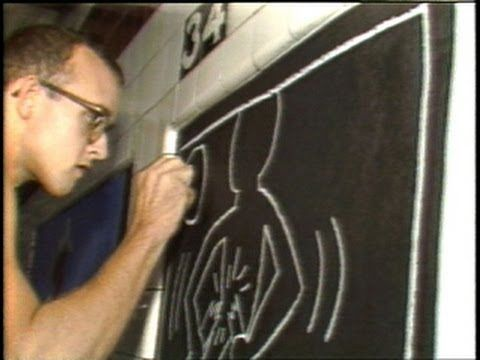CBS Sunday Morning show: Keith Haring graffiti subway drawings and art gallery (3:21)