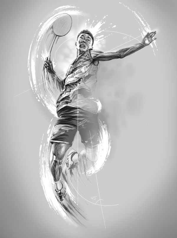world class badminton players on Drawing Served