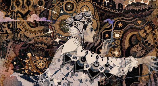 絵師・秋屋蜻一のイラストレーション作品をご紹介します。世紀末美術で知られるイギリスのイラストレーター、オーブリー・ビアズリーや「接吻」や「ベートーヴェン・フリーズ」を描いたグスタフ・クリムト、日本でいうと宇野亜喜良さんの影響がみられますね。 もちろん、影響は見られるものの、表現としてのオリジナリティや独自の世界観があり、細部の描きこみや色彩感覚、画面のクオリティが素晴らしいです。古典的な題材を扱いつつも現代的な表現に落とし込めていますね。素晴らしい!!! Twitterに多く作品を投稿していますので、ぜひ、作品を気に入った方はフォローしてみてください。また「カギの行商人」という展覧会の公式ページにインタビューも掲載されています。こちら。 https://twitter.com/Akiya_kageichi/ pic.twitter.com/hmRFjrdDDZ— 秋屋 蜻一 (@Akiya_kageichi) 2015年10月7日 pic.twitter.com/zSLrUwmxuj— 秋屋 蜻一 (@...