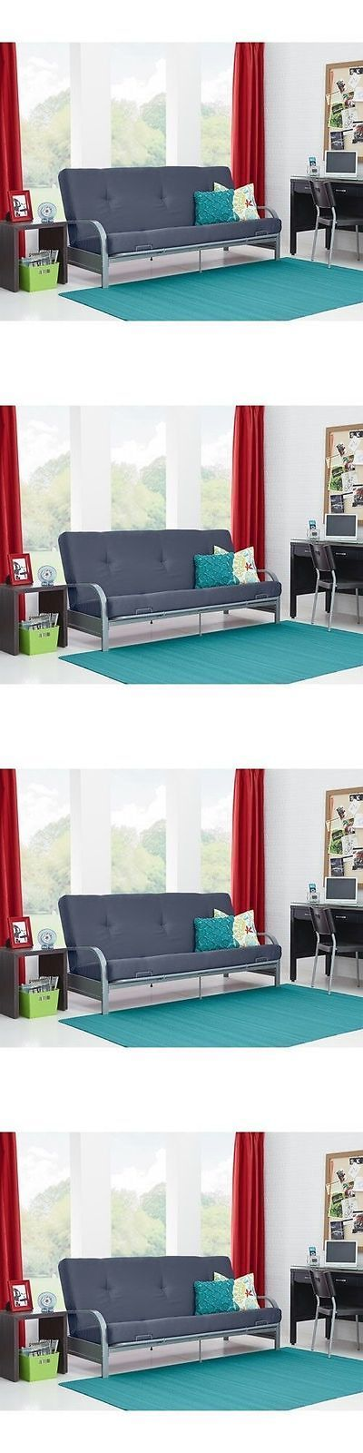 Futons Frames and Covers 131579: Futon Sofa Bed With Mattress Convertible Sleeper Lounger Dorm Couch Seat Folding -> BUY IT NOW ONLY: $118.24 on eBay!