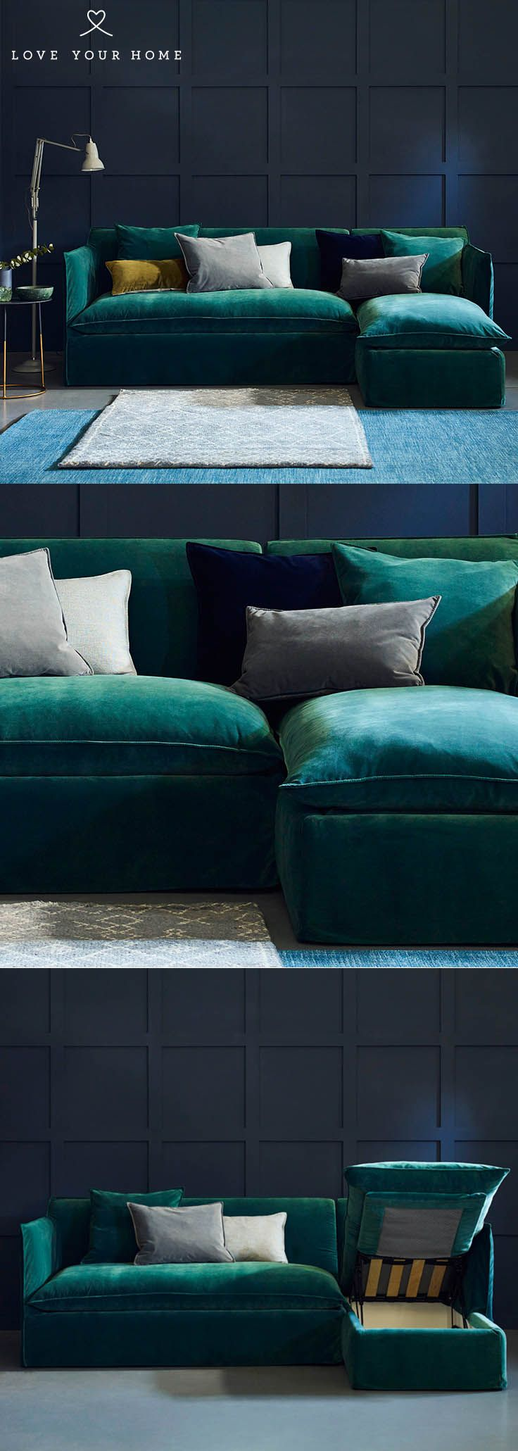 Sophie - Chaise Corner Sofa Bed