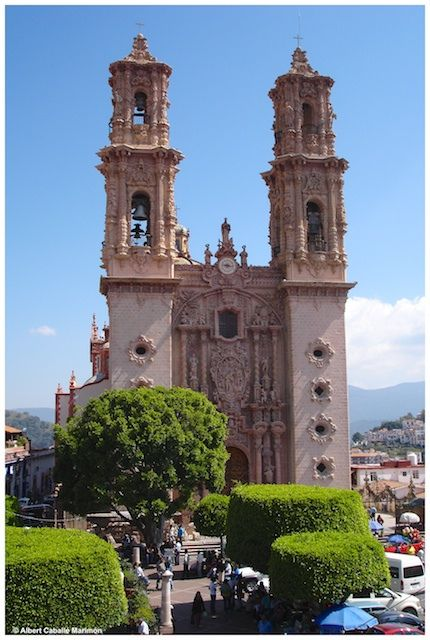 Image result for taxco mexico church on hill 1937