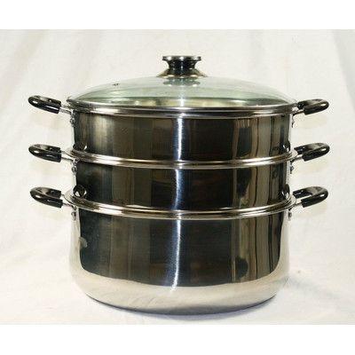 """Concord 3 Tier Steamer Steam Pot Size: 11.81"""""""