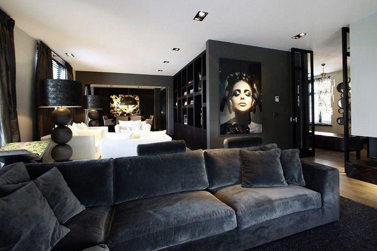 Van den Berg Interieurbouw - Droomvilla Rotterdam - Luxe woonkamer inspiratie