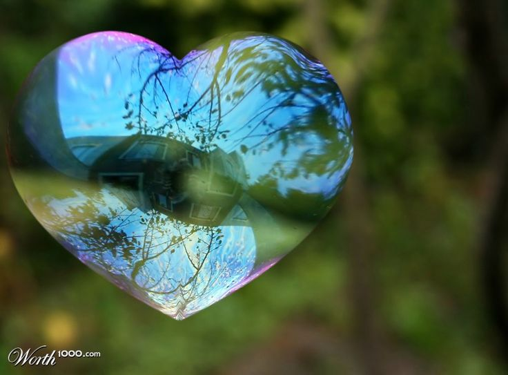 Soap Bubble Heart
