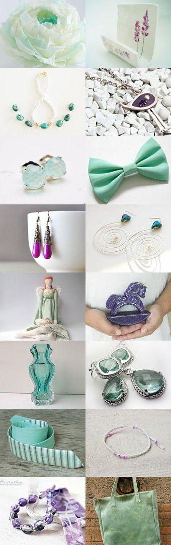 Lavender and Mint by Bibe Jewelry on Etsy--Pinned with TreasuryPin.com