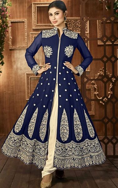 Picture of Ravishing Navy Blue Designer Salwar Kameez