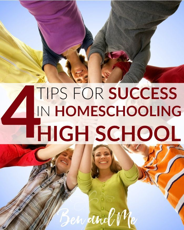 4 Tips for Success in Homeschooling High School -- Today, as we are in the throes of Ben's sophomore year, I feel as if I can offer you all a bit of encouragement as you look toward homeschooling high school, too.