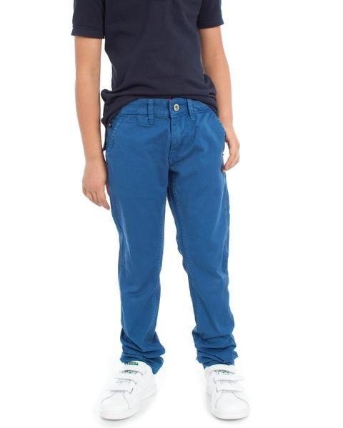 Pantalon azul ideal para este verano  #pantalón #moda #niño