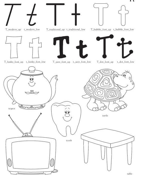 Qué puedo hacer hoy?: Dibujos letra T para colorear | Dibujos para ...