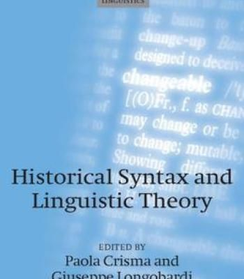 Historical Syntax And Linguistic Theory PDF