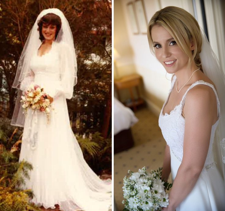 My wedding dress was first worn by my Mother 31 years ago. My Mum was a beautiful bride! Fast forward to my wedding day, a few alterations for a warmer climate and I had my 'something old, something borrowed and something new!' Just needed to add something a little blue!