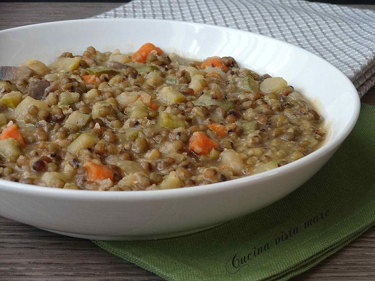 Zuppa+di+fagioli+verdi+e+verdure