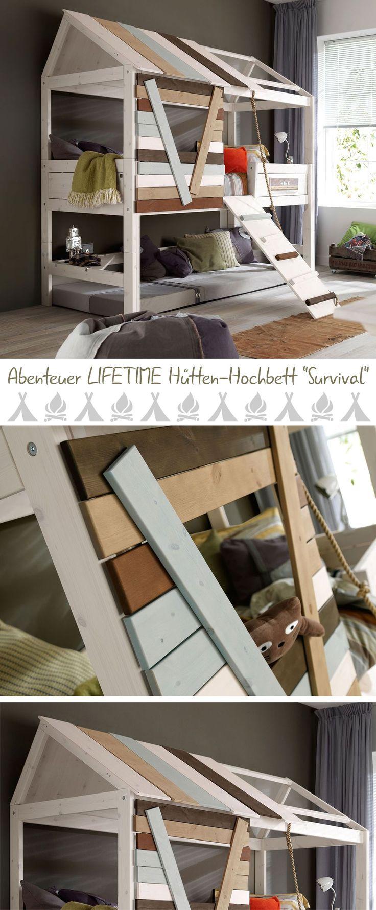 Hütten Hochbett Mit Abenteuerlichem Charme. Perfekt Für Kleine Camping  Fans. #camping #
