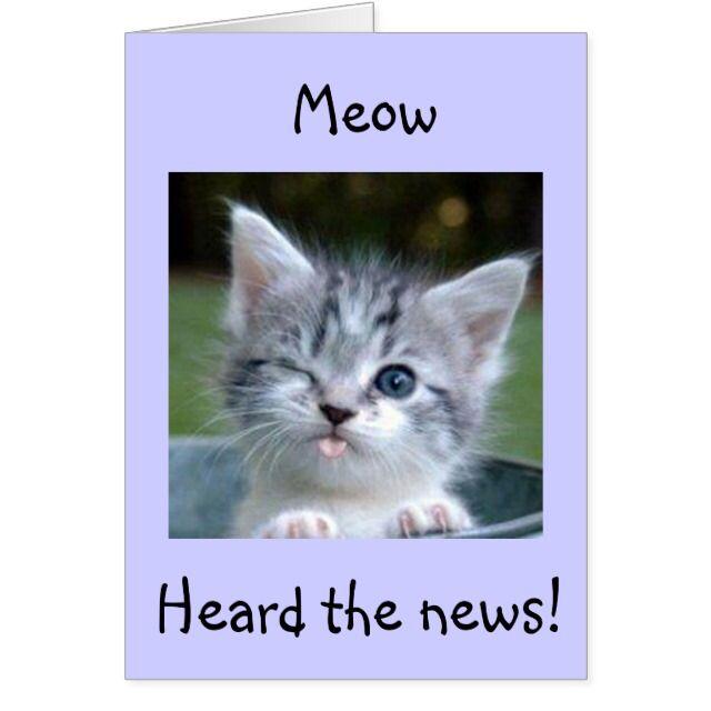 Meow-flirting with 50! wow-happy birthday card – Linda