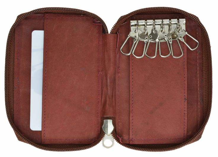 Genuine Leather Key Chain Holder Coin Pocket 412 CF (C)
