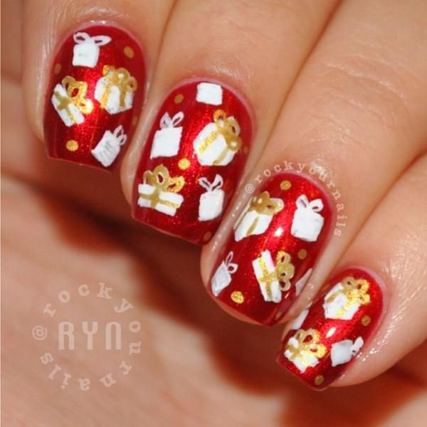 Best 25 christmas present nail art ideas on pinterest christmas rockyournails christmas present nails prinsesfo Gallery