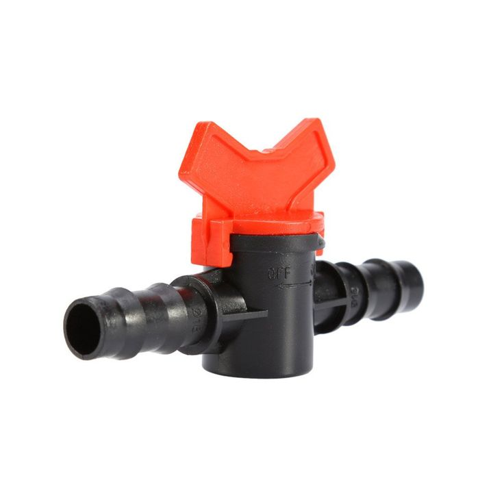 Pipe Connector 16mm Plastic Coupling Switch Valve For Garden Water Drip Irrigation Description   Irrigation Valve Item specifics:    Garden Hose Connector Brand New and High Quality   Converts a single garden tap into 2 outlets   Includes shut off valve t
