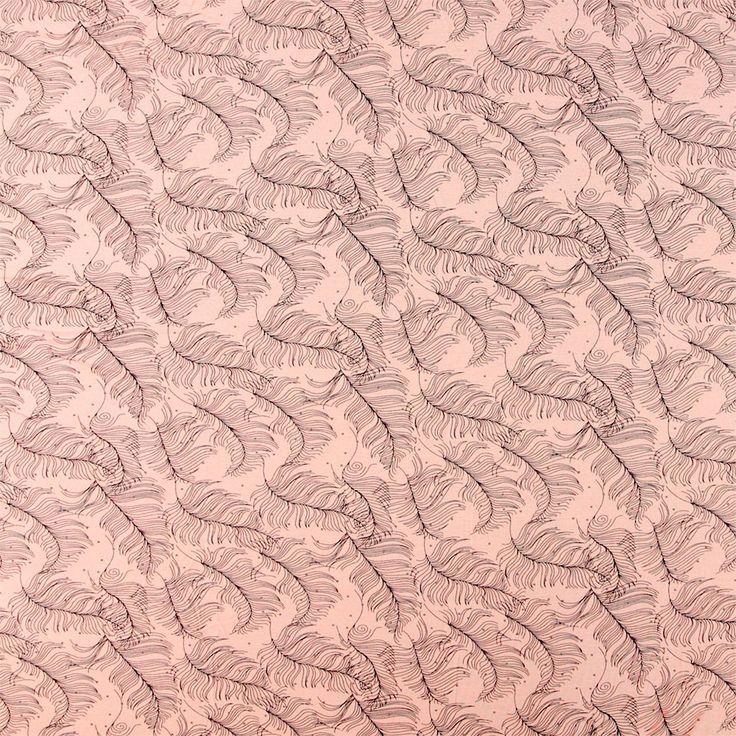 Feather print viscose jersey