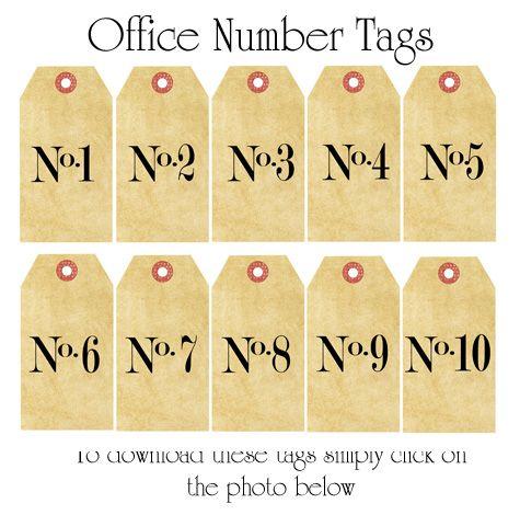 Kristine Mckay Designs » Blog Archive » Decorating using Numbers; more printables