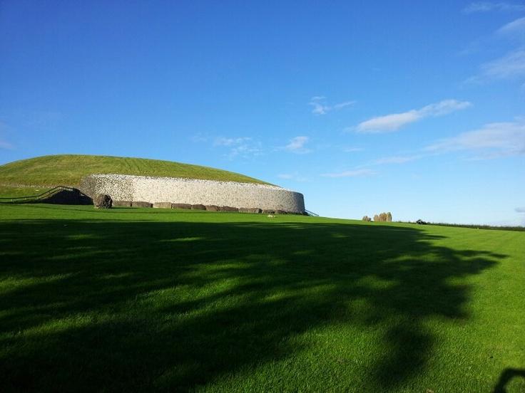 Newgrange- 5000 years old on a rear Irish summers day