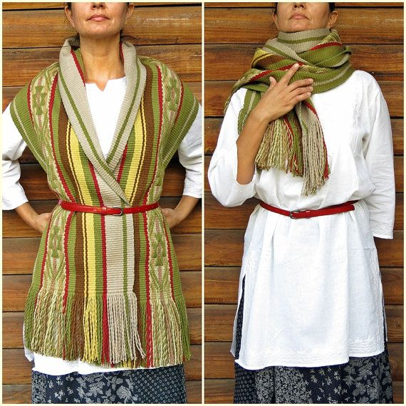 Mantón de las lanas echarpe abrigo de lana por TelaresNUEVOMUNDO