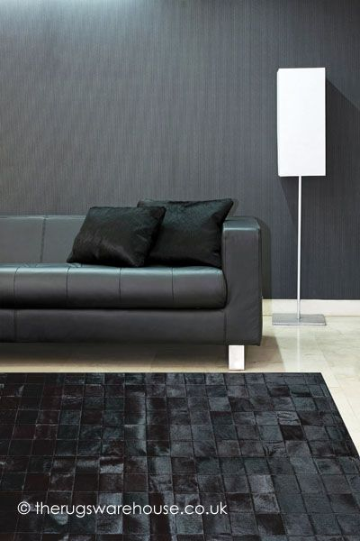 Chantilly Noir Rug (100% leather, handmade in Spain) http://www.therugswarehouse.co.uk/leather-rugs/chantilly-noir-rug.html