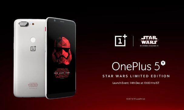 Star Wars OnePlus 5T celebra el estreno de Star Wars: The Last Jedi