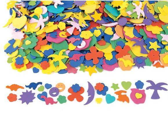 Fun Foam Shapes - 1000 Pieces