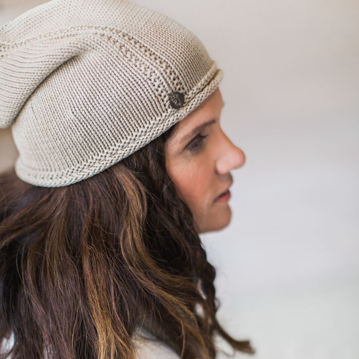 Sky knitted cap - sand