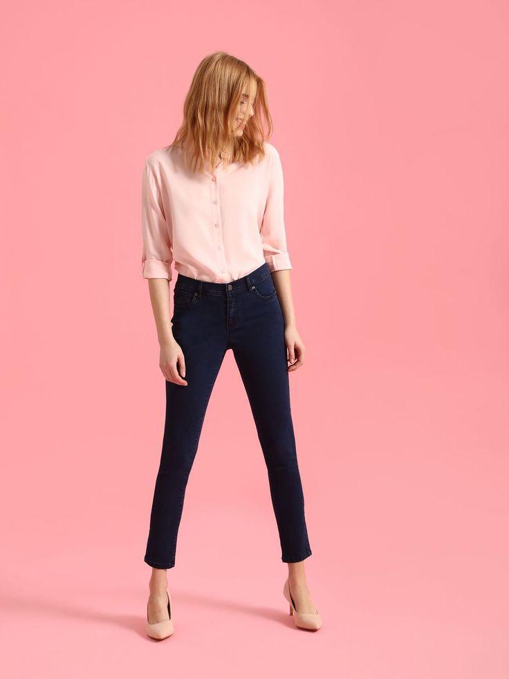 Spodnie damskie dopasowane jeansy