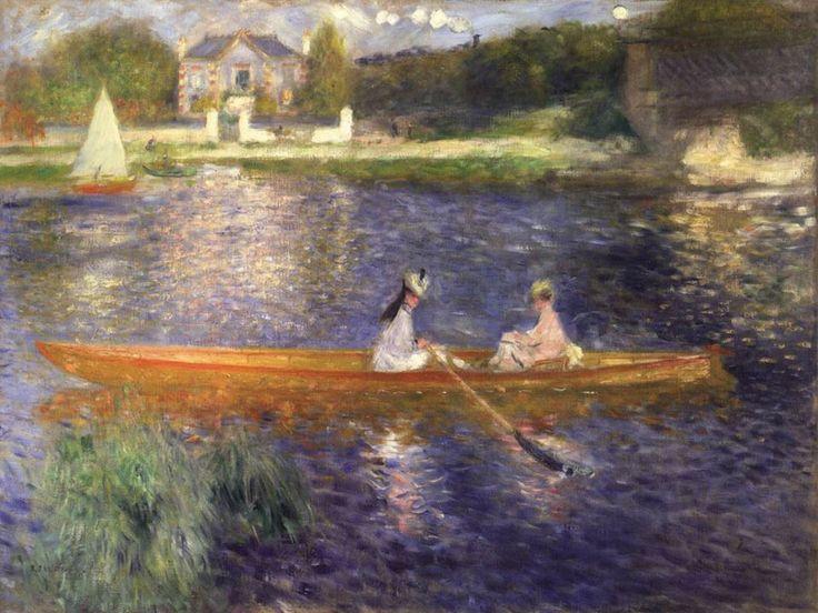 Pierre-Auguste Renoir, La iole (1875). Leggi la descrizione completa dell'opera: http://www.finestresullarte.info/operadelgiorno/2014/217-pierre-auguste-renoir-la-iole.php
