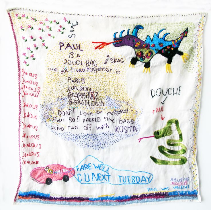 Joy Ivill - boyfriends series of embroideries