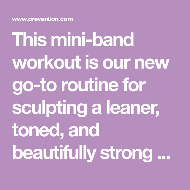 This mini-band workout is our new go-to routine for sculpting a leaner, toned, and beautifully strong upper body. Created by celebrity trainer Jason Wimberly, it uses small, circular resistance bands to hit every inch of your chest, back, and arms.