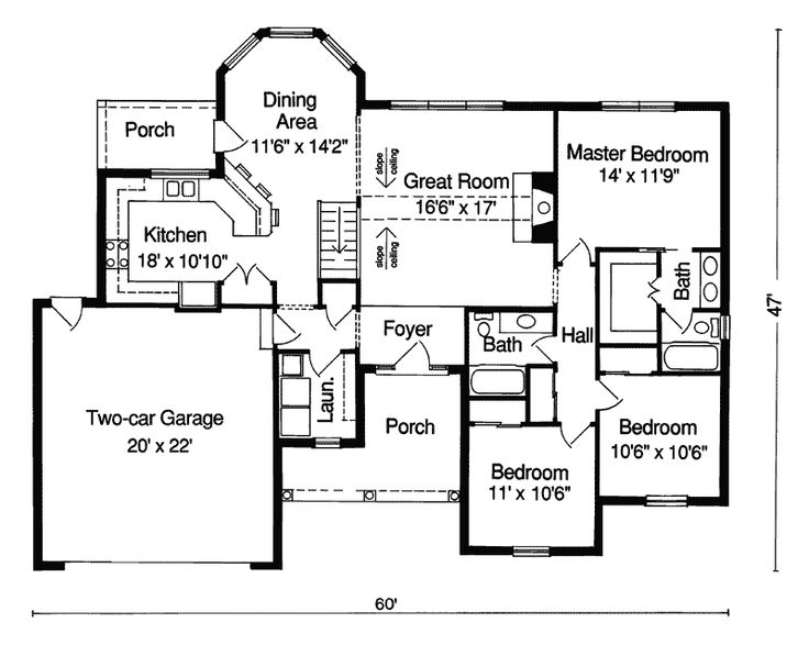 17 best images about small house plans on pinterest for Small brick ranch house plans