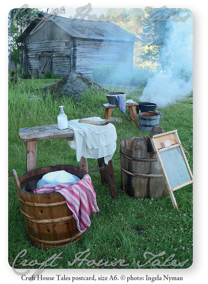 www.paperisilppuri.fi #laundryday Laundry Day & Finnish Countryside (old times)
