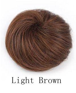 Synthetic chignon hair bun hairpiece color of light brown chignon bun hairstyles