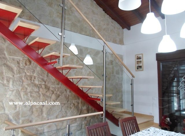 Pin by alpaca s l on escaleras de estructura met lica - Escalera con tensores de acero ...