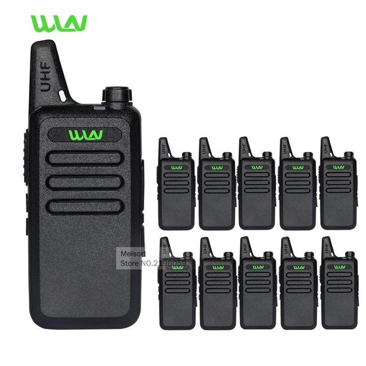 Buy Wallmart.win 10pcs Professional Mini Walkie-Talkies WLN KD-C1 UHF Handheld Long Range 2 Way Ham Radios Small Portable Ham Radios…