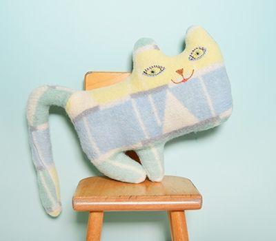Naaien: Dekens *Sewing: Blankets ~Deken Knuffel Kat~