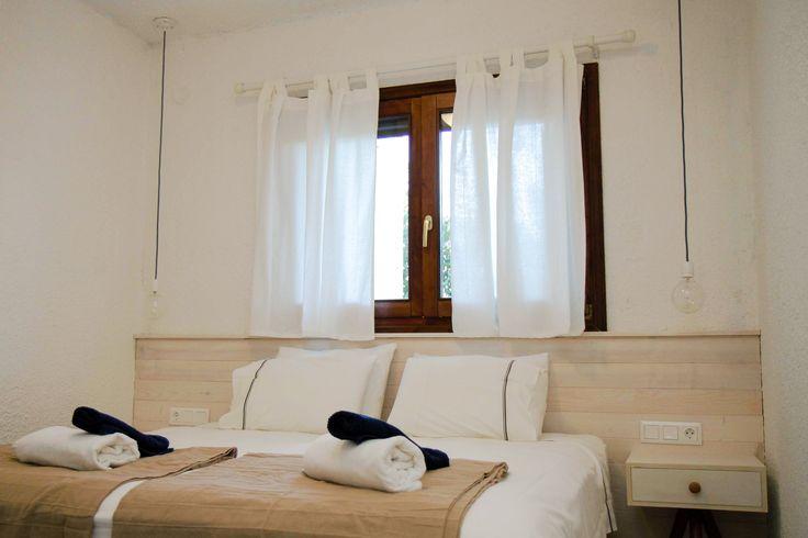 Dreamhouse in Chalkidiki, Greece | Interior-Bedroom | Ask for availability in summer 2017! #dreamhouse #cottage #beachhouse #housetorent #siviri #chalkidiki #aegean #architecture #greece #summer