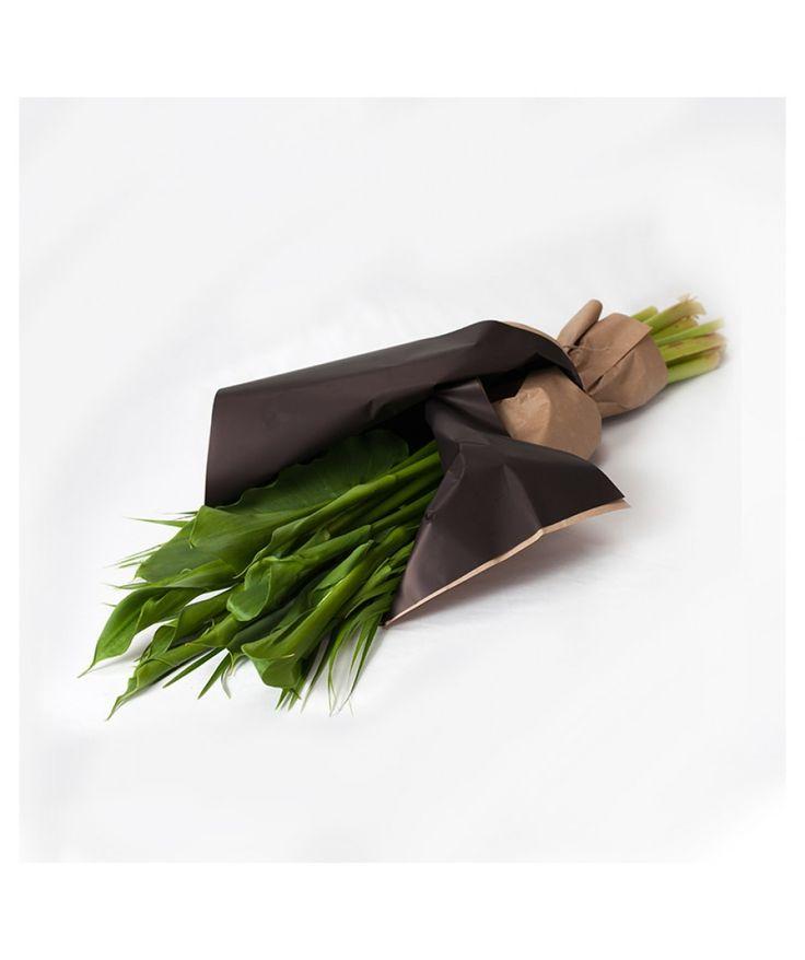 Seasonal Wrap - Subscription Wraps - Green Goddess Arum Lilies